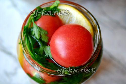 Залить помидоры кипятком