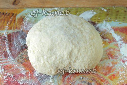 Готовое тесто для жареных пирожков с капустой