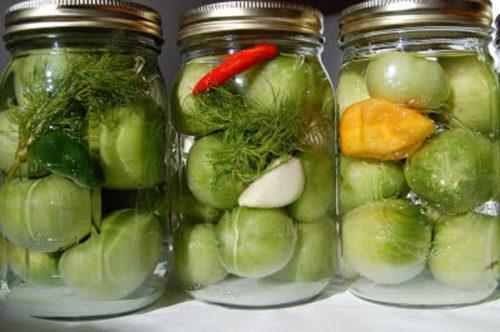 Зеленые помидоры на зиму, пальчики оближешь