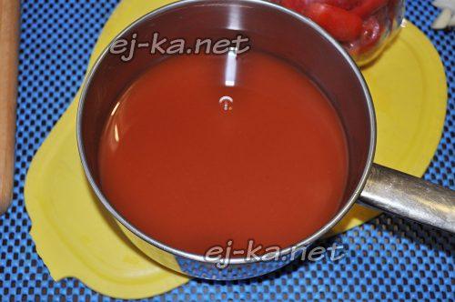 Томатный сок для заливки помидоров