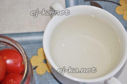 Подготовить воду для маринада