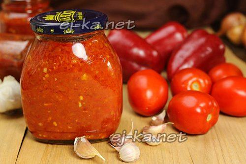 Рецепт вареной аджики из помидор, перца и чеснока