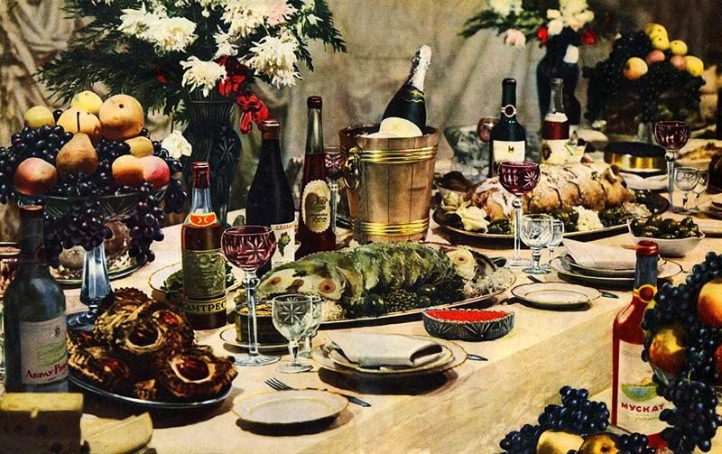 Картинки по запросу Советский праздничный стол