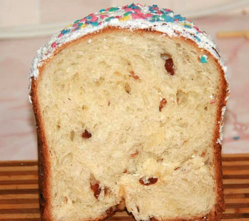 кулич из хлебопечки
