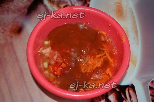 добавить к помидорам перец и томат