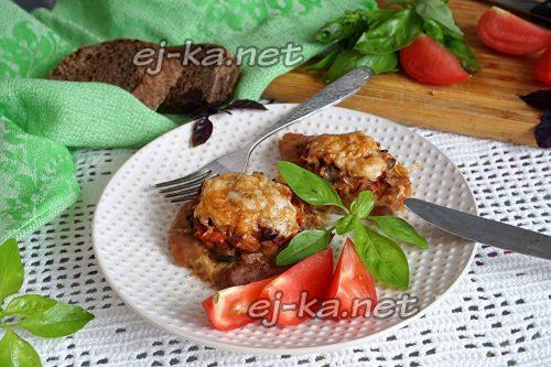 готовые отбивные из свинины с грибами и сыром в духовке