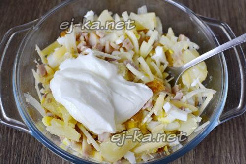 добавить натуральный йогурт