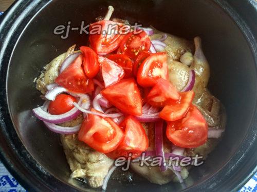 добавить резаные помидоры
