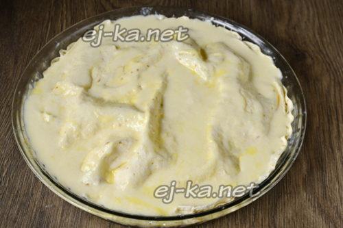 пирог перед духовкой