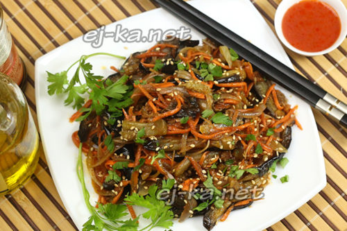Корейская закуска из баклажан