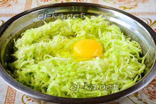 тертые кабачки с яйцом