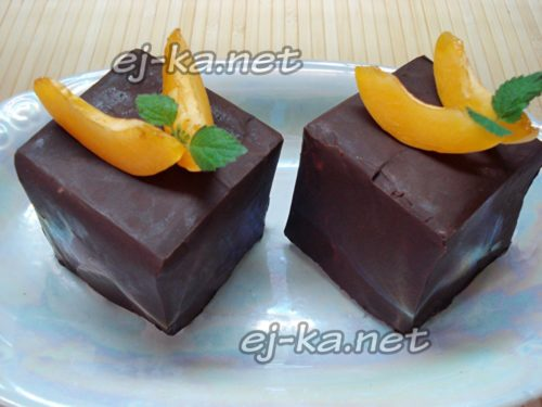 тортик без выпечки с абрикосами