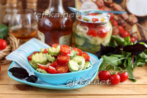 маринованный салат на природу