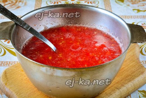 томаты прокрутить через мясорубку