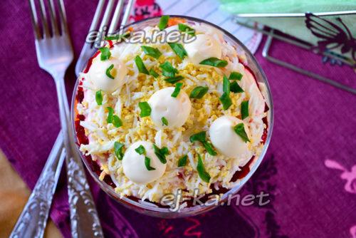 салат селедка под шубой готов