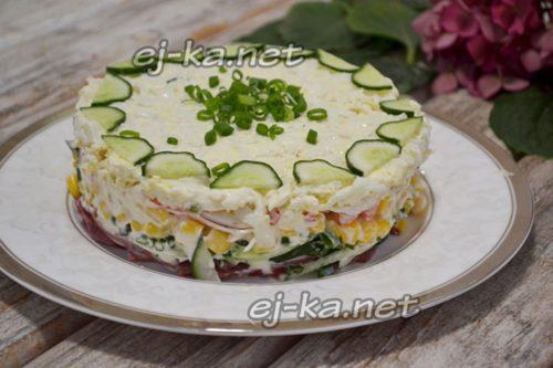 салат украсить зеленью