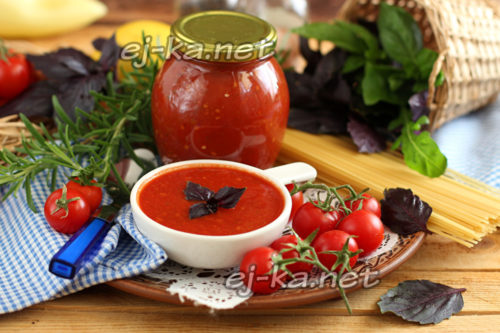 Соус из помидор на зиму