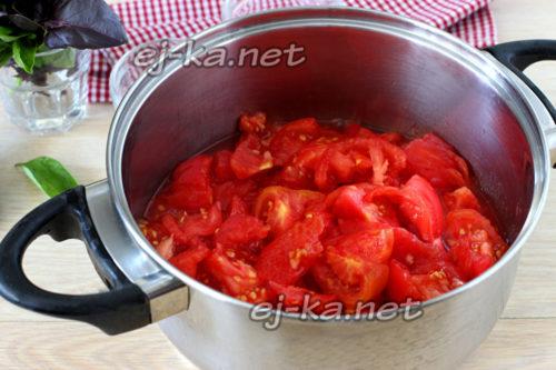 помидоры нарезанные