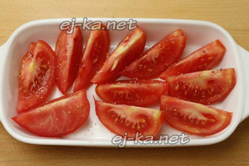 Подготовка томатов к запеканию