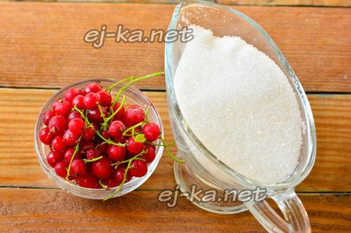 смородина и сахар