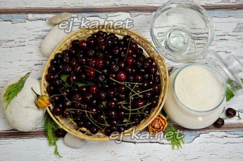 Ингредиенты для заготовки из вишни