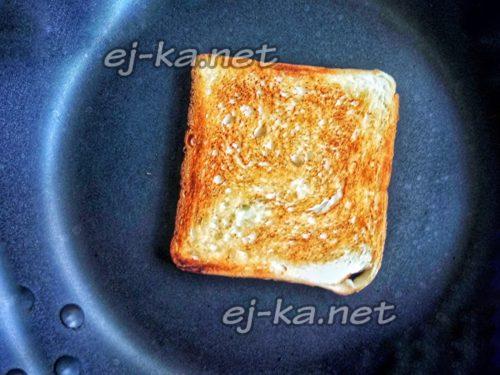 ломтик хлеба подсушить до золотистого цвета