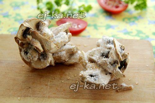 подготовить замороженные грибы