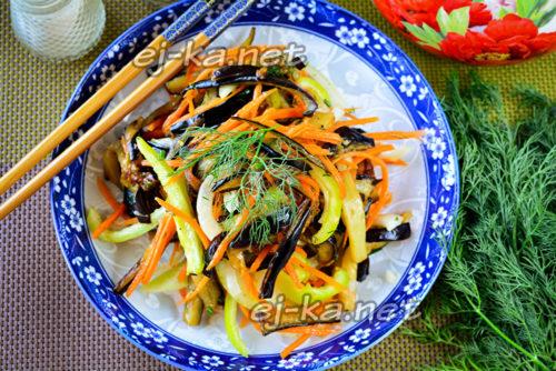 Хе из баклажан по-корейски, самый вкусный рецепт