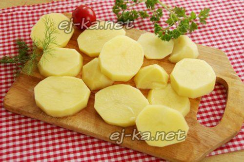 Картофель кружками
