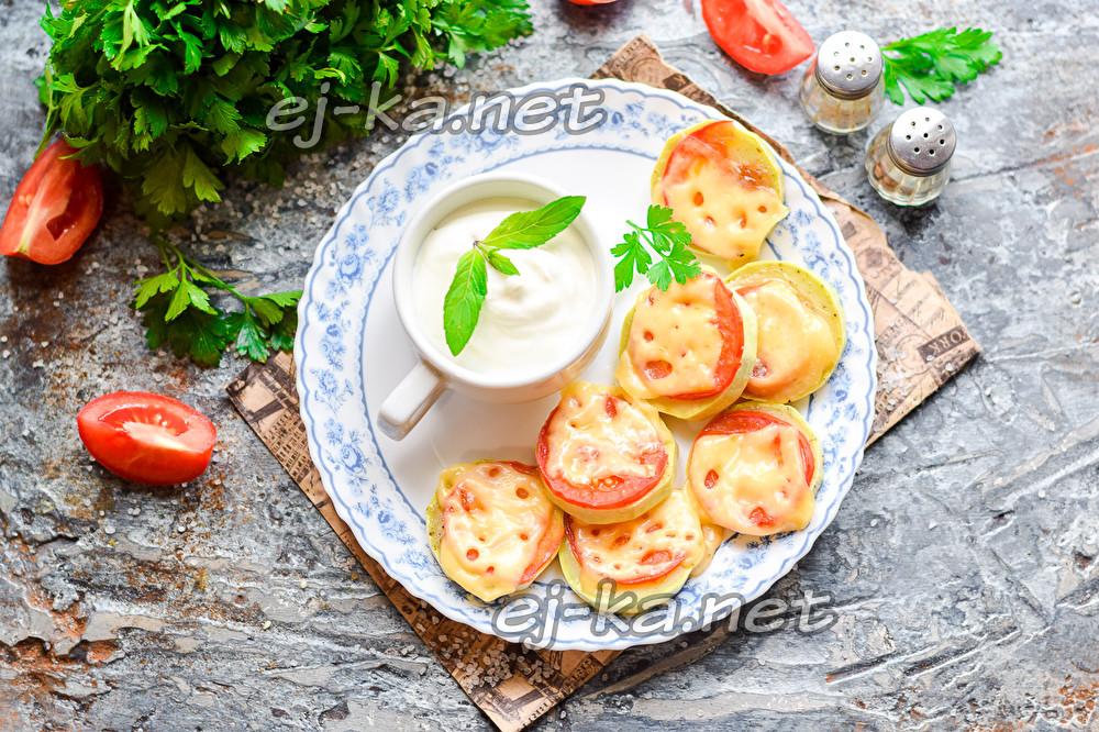 Горячие кабачки с сыром