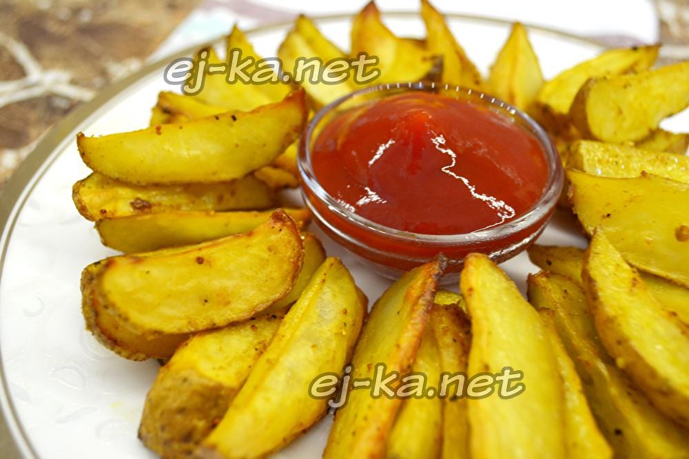 Печеный картофель по-деревенски