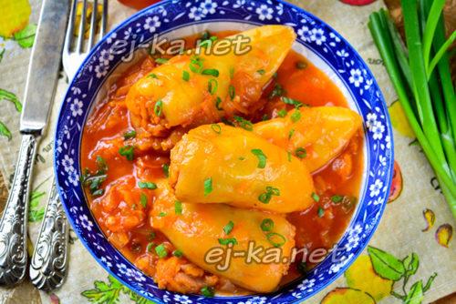 перец с рисом и мясом