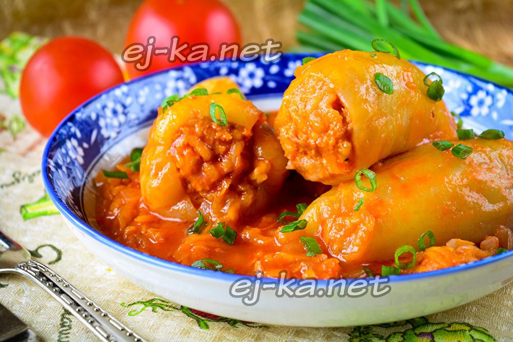 Фаршированный рис с мясом и рисом