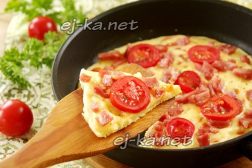 пицца на майонезе готова
