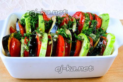 обмазать овощи приправой