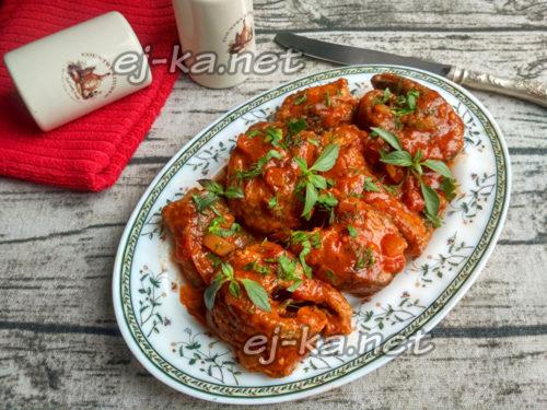 рыбка с томатном соусе