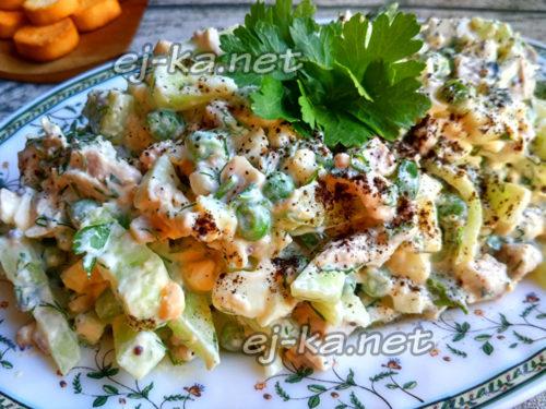 диетический салат с кроликом