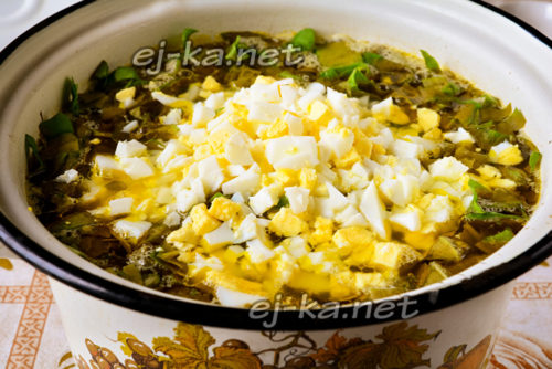 яйцо в супе
