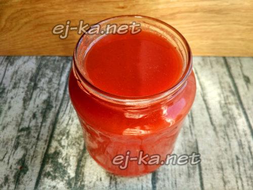 томатный сок в банке