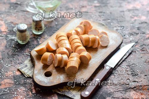 нарезанные сосиски