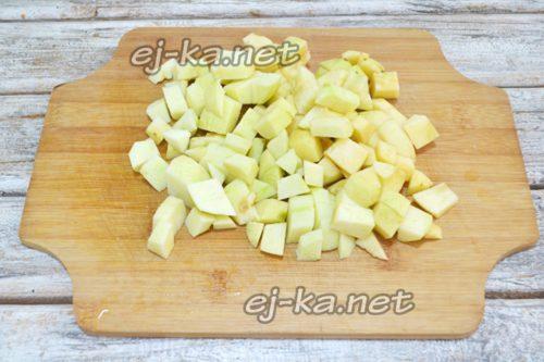 Резаные яблоки