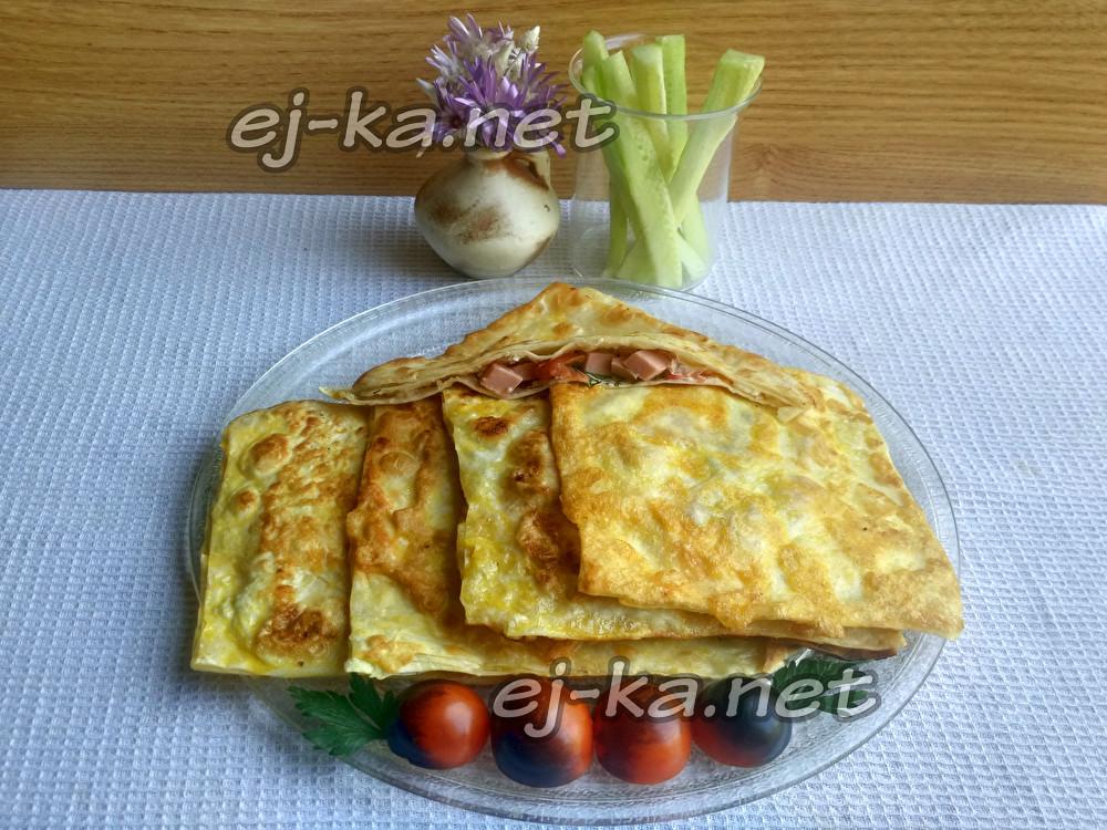 Закуска из лаваша