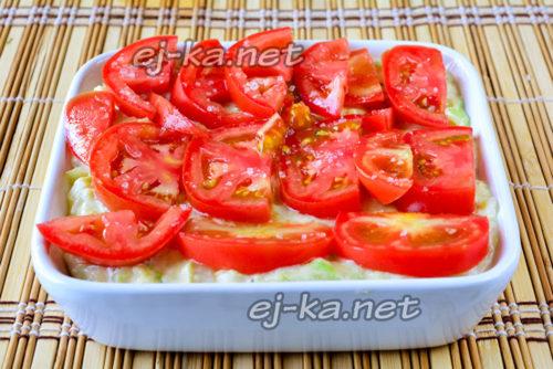 сверху слой помидоров