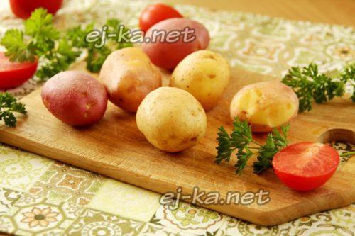 тщательно вымытый картофель