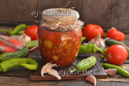 Огурцы в томате на зиму: обалденный рецепт в томатной пасте на зиму