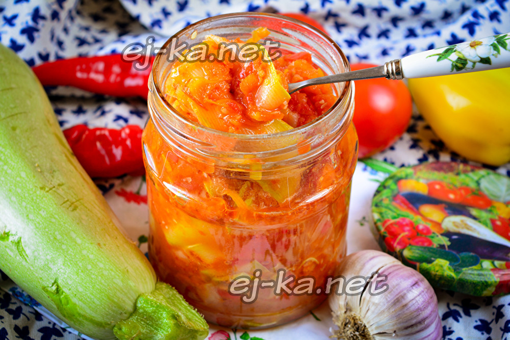 """Салат из кабачков """"Тещин язык"""""""