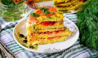 кусочек кабачкового торта