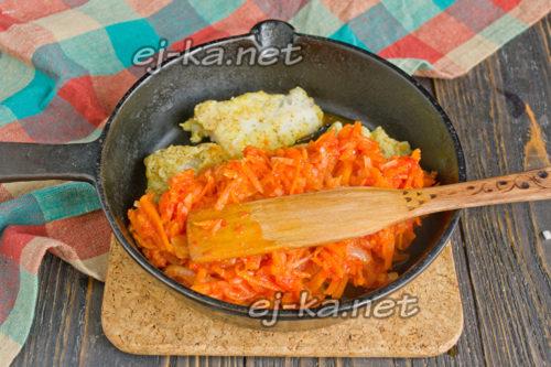 рыбное филе с маринадом на сковороде