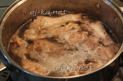 ставим варить мясо