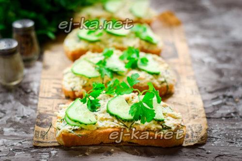 готовые бутерброды с печенью трески